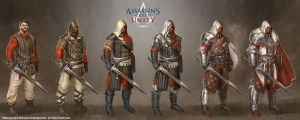 assassin's creed unity medieval gears by JohanGrenier