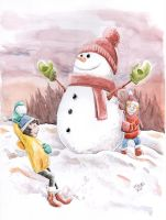 Merry christmas and snowball fight!! by Shebadu24