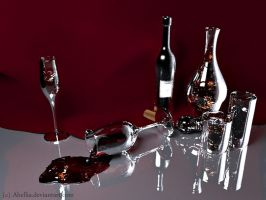 Spilled Wine by Abellia