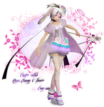 [MMD Easter Collab] Roses Bunny V flower by Emy-san