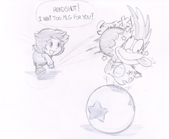 Commish: Off the head! by Nintendrawer
