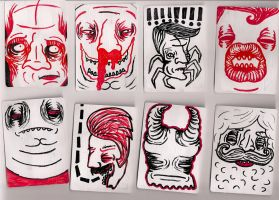 playing card paintings by octodream