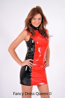 Red and Black Fetish PVC Dress by fancydressqueen