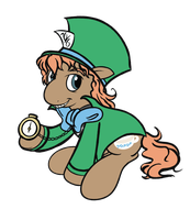 Mad Hatter Pony (Personal Colors) by Perrydotto