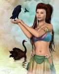 Bird Woman of the Tropics by RavenMoonDesigns