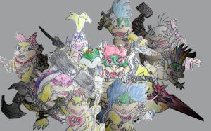 The 9 Royal dragon koopas by Vyel