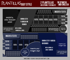 Plantillas Iggy Style #1 [In Spanish and English] by Awesome-Yuuko-San