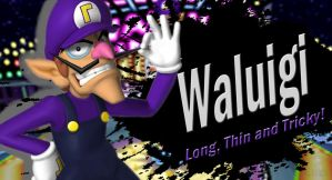 Waluigi SSB4 Request by Elemental-Aura