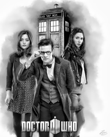 Dr Who 2 Companions Black and White by PZNS