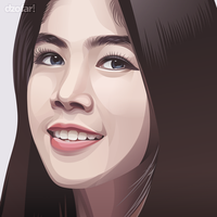 Realistic Vector Beautiful Girl by ndop