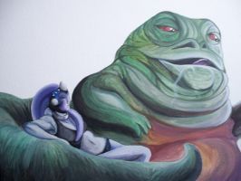 Jabba And Slave by HannahWhoDraws