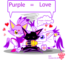 Purple Chibi Kitties by Bowser2Queen
