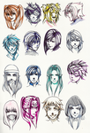 Two Faced portraits 2 by Zenith-Zero