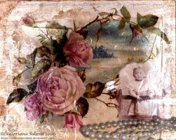 Vintage Collage with Roses by ValerianaSolaris