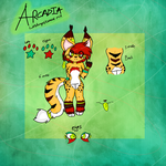 Fursona Ref- Arcadia the Wildcat Mix by oO-Pie-the-Epic-Oo