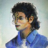 Michael Jackson Watercolour Portrait by adrians-angel