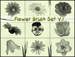 Flower and Grass BrushSet by rs-designs