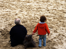 A Man, His Dog, Our Future by GVGPhotos