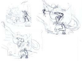 Destruction of Solitude Sketches by ghostfire
