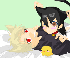 Prussia and Lindsey Ah, What a Wonderful Cat Life by RosetheSeedrian