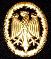 Gold Eagle Army Medal by FantasyStock