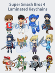 Super Smash Bros 4 Keychains by Exekiella