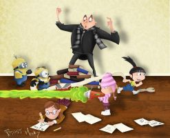 Despicable Me Tribute COLOURED by JoshawaFrost