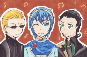 Wesker + Marth + Loki by EmailinasBrother