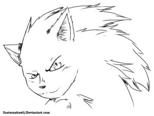 Sonic the hedgehog [Free line art] by 5catsonebowl