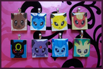 Scrabble Charms - Eeveelutions by MandyPandaa