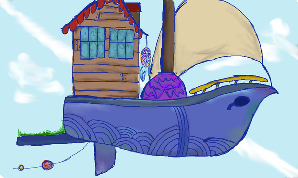 Sky ship for school thing by Fandomfighter
