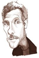 Dr House - Hugh Laurie by manohead