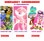 EMERGENCY COMMISSIONS by DisfiguredStick