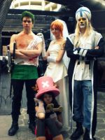 Nami, Chopper, Zoro, Absalom. by MWNami
