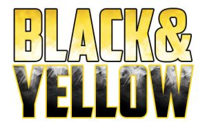 black and yellow logo design. by stephhabes
