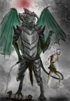 Molag Bal- daedric Lord of enslavement (colored) by Spynder4