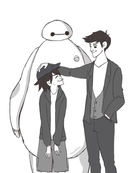 Boys And Baymax by ammdakin