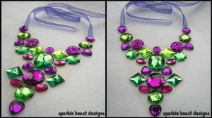 Purple and Green Necklace by Natalie526
