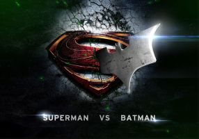 Batman vs Superman poster by Mleeg-Art