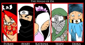 THE 5 NINJAS OF DA by Sketchfighter316