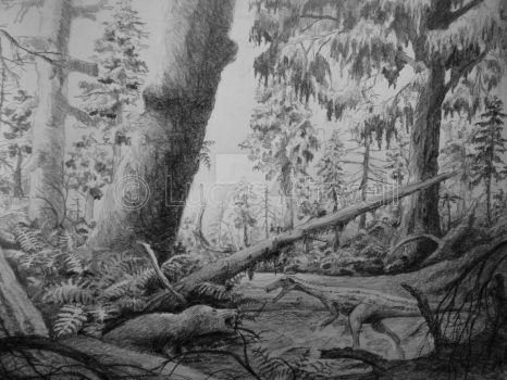 Triassic scene 3 by Lucas-Attwell