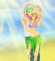 Zoro and Nami Hawai vers by LaFoxtriel