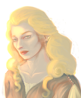 Galadriel doodle by Radiolaire