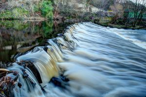 Rapids on Calder by Hollins Mill Lane by TazPoltorak