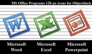 MS Office dock icons by dylanliwanag
