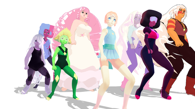 [MMD] Steven universe [Girls] by Mabel121