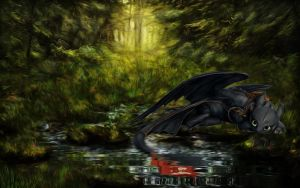 Fantasy-Forest-Toothless-2 by edewin