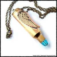 Steampunk Angel Bullet Pendant by SoulCatcher06