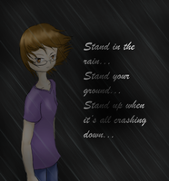 Stand in the rain by selene411