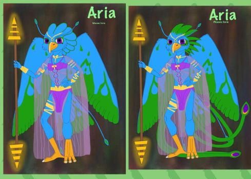 Aria the Macaw/Phoenix by SterlingSilver46